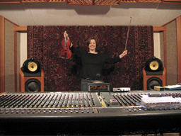 Rosie Shipley in the recording studio
